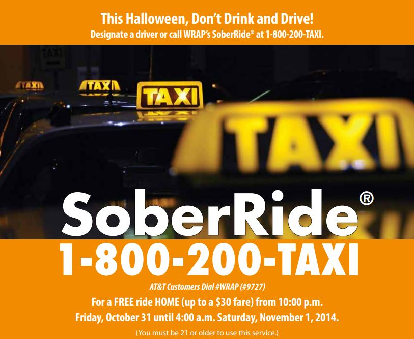 call 1 800 200 taxi and youre covered - Halloween Northern Virginia