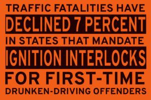 Ignition Interlock Study - fatalities decline 7 percent