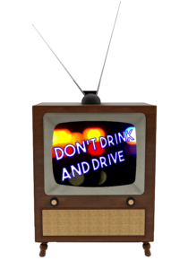 tv with anti-drunk driving PSAs