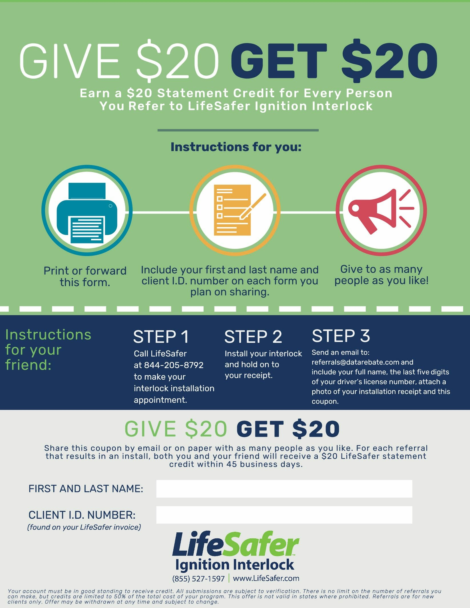 Save Money with our referral program.