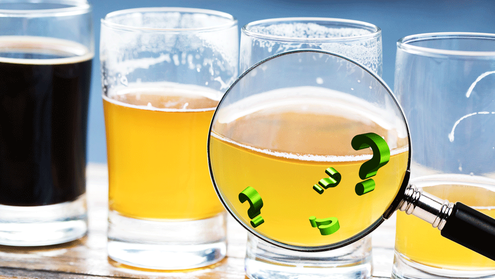 Alcohol content floating in a beer