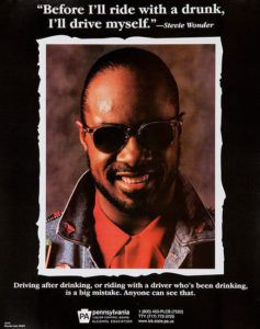 Stevie Wonder ad against drunk driving